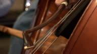 Bass violin bowing video