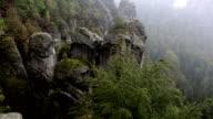 Bastei rock formation in Saxon Switzerland National Park, Germany video
