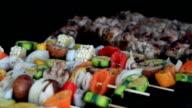 Basting BBQ Vegetable Shish Kebab video