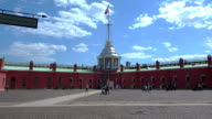 Bastion of the Peter and Paul fortress. St. Petersburg. 4K. video