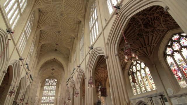 Bath Abbey Interior - Bath, England - Full Pan video