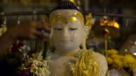 Bathing of Buddha Statue at Shwedagon Pagoda in Yangon, Myanmar (Burma) video