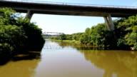 Batter Post bridge and Truss Bridge, Crocodile River, Gauteng, South Africa video