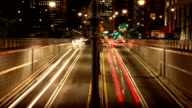 Battery Tunnel Light Trails in New York City video