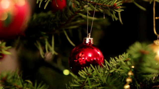 Baubles, Fairy Lights and Decorations on a Christmas Tree video