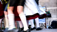 Bavarian folk dance at Oktoberfest in munich video