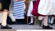 Bavarian folk dance group video