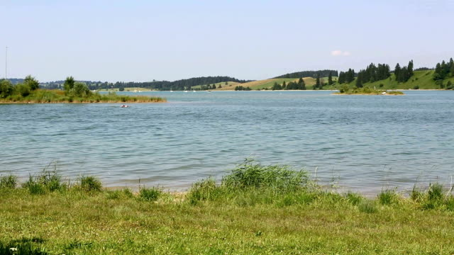 Bavarian lake Forggensee in summer video