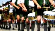 Bavarian Musicians Performing In Street Parade video