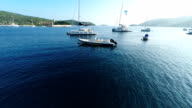 AERIAL Bay on the island Vis video