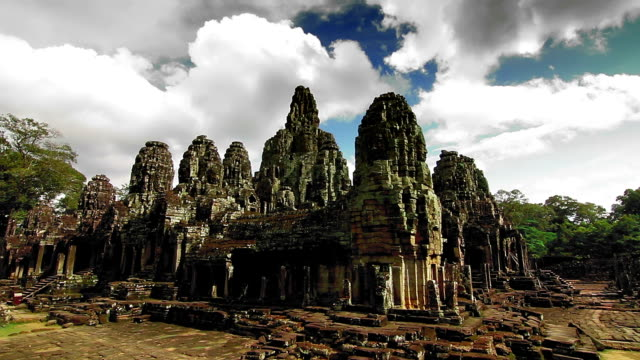 Bayon temple time lapse loop video