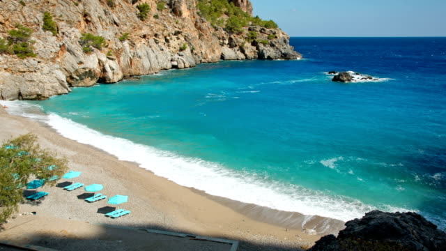 HD: Beach Achata on Karpathos, Greece video