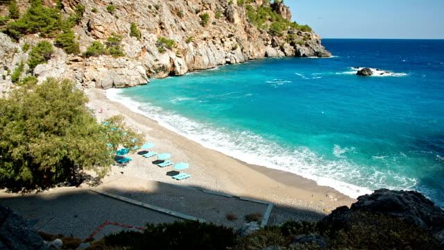 HD: Beach Achata on Karpathos, Greece video