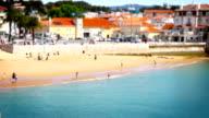 Beach and People, Tile Shift, Cascais, Lisbon, Portugal video