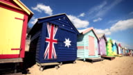 Beach Bathing Boxes in Brighton (Melbourne, Australia) video