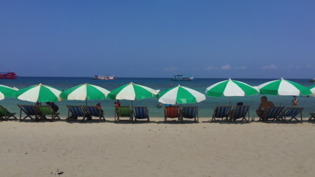 Beach Chairs at Summer on Paradise Island video