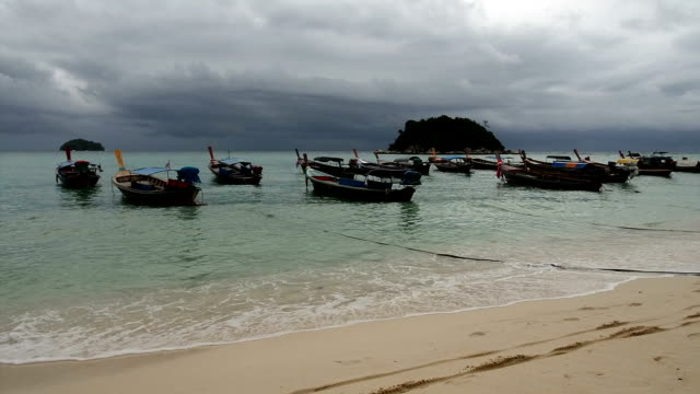 Beach during monsoon video
