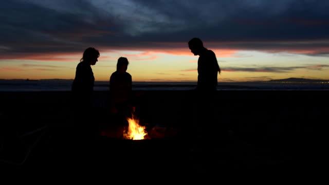 Beach fire pit video