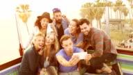 SLOW MOTION - Beach Friends Group Selfie video