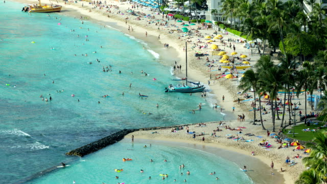 Beach Honolulu Hawaii Time Lapse Night video