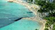 Beach Honolulu Hawaii Time Lapse video