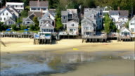 Beach houses in Provincetown - Aerial View - Massachusetts,  Barnstable County,  United States video