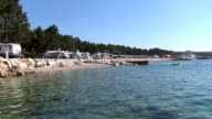 beach life in croatia on krk video
