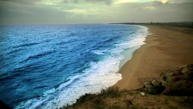 Beach on blue video