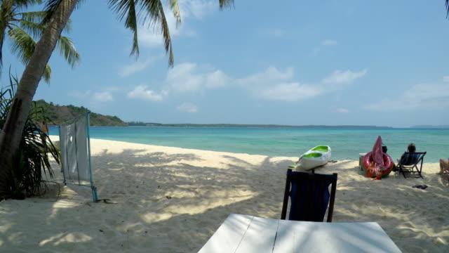 Beach on Tropical Islands in Summer Season video