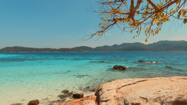 Beach on Tropical Islands with Blue Turquoise Sea video