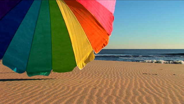 Beach Parasol in Summer video