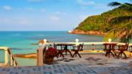 Beach restaurant video