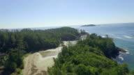 Beach Reveal Aerial video