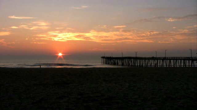 Beach Sunrise by Pier video