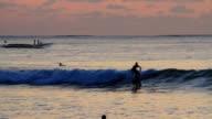 Beach Sunset Surfing video