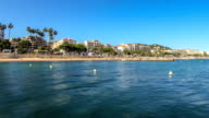 Beach Time Lapse Cannes Pan video