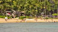 Beach Time Lapse People & Snorkeling Pan video