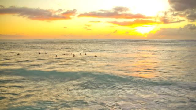 Beach Time Lapse Sunset Surfers video