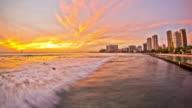 Beach Time Lapse Waikiki Sunset video