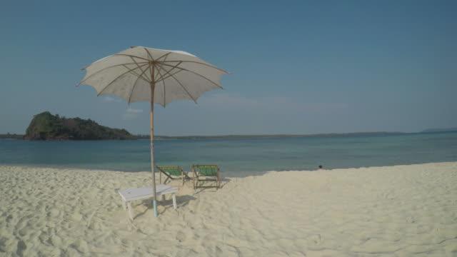 Beach Umbrella on Tropical Islands video