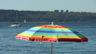 Beach Umbrella With Boats video