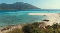 Beach with Blue Turquoise Sea on Tropical Islands video