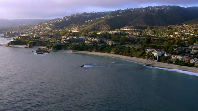 Beachfront homes along the southern California coast video