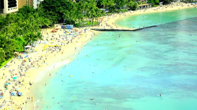 Beachgoers at Waikiki video