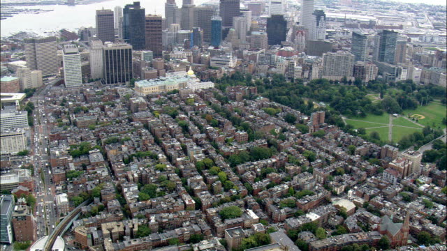 Beacon Hill  - Aerial View - Massachusetts,  Suffolk County,  United States video