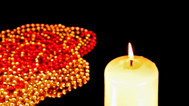 Beads and candle video