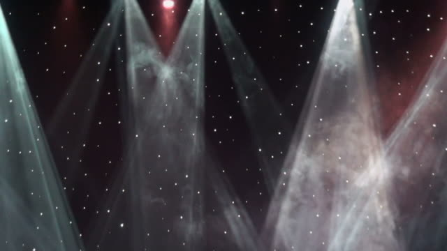 Beams of colored laser lights video