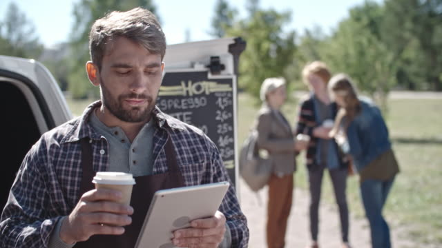 Bearded Barista and Group of Friends video