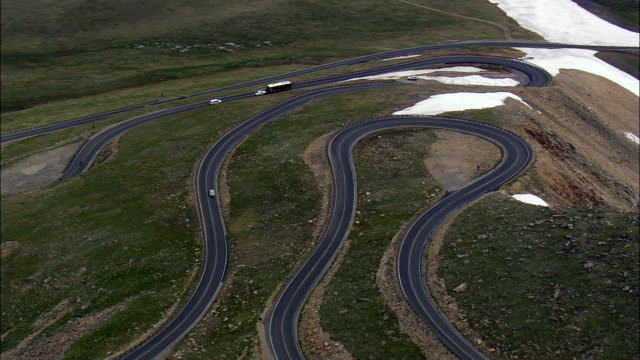 Beartooth Highway  - Aerial View - Wyoming, Park County, United States video