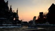 Beatiful Tample in Thailand timelapse video